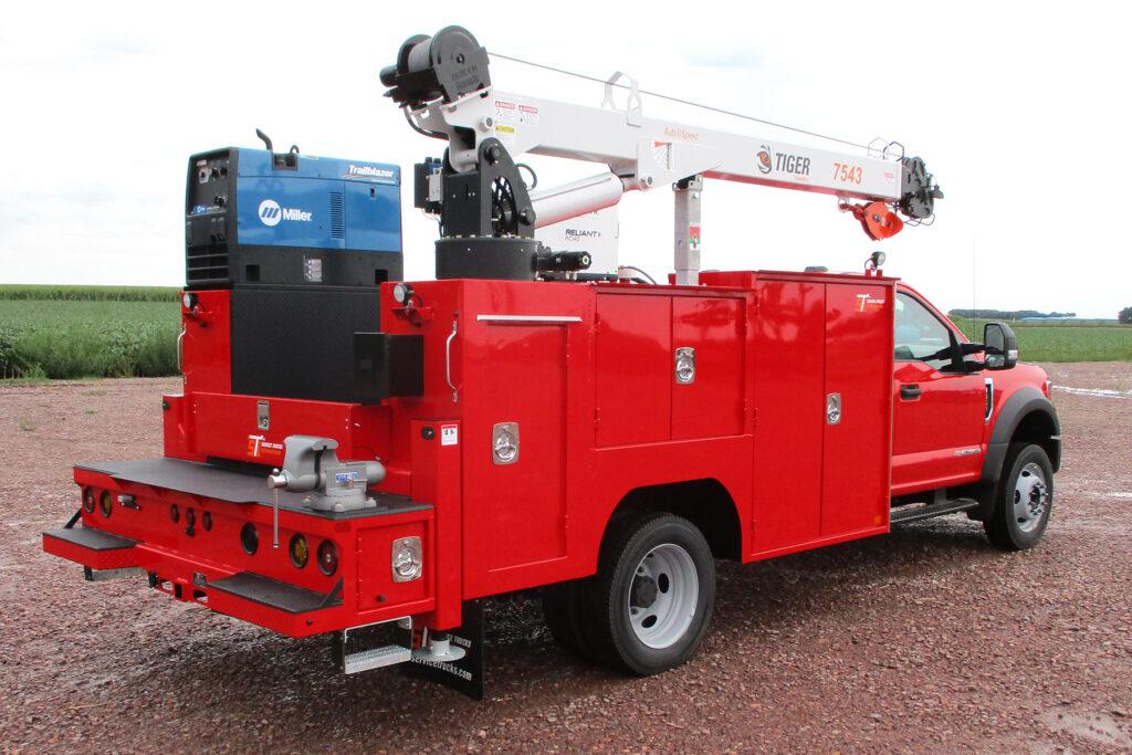 Service Trucks International 11' Crane Body 2252